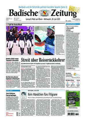 Badische Zeitung - Lörrach/Weil am Rhein (28.07.2021)