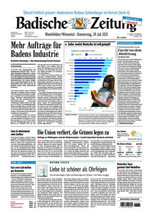 Badische Zeitung - Rheinfelden/Wiesental (29.07.2021)