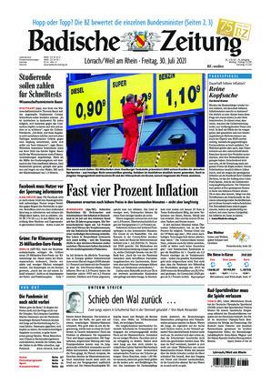 Badische Zeitung - Lörrach/Weil am Rhein (30.07.2021)