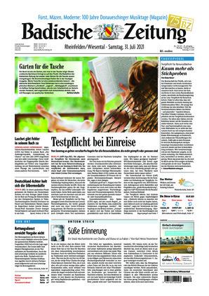 Badische Zeitung - Rheinfelden/Wiesental (31.07.2021)