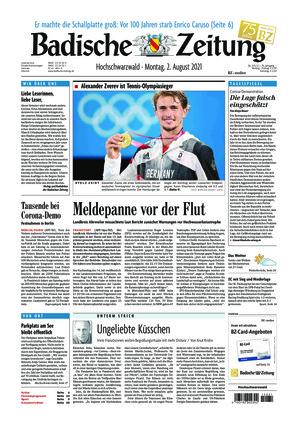 Badische Zeitung - Hochschwarzwald (02.08.2021)