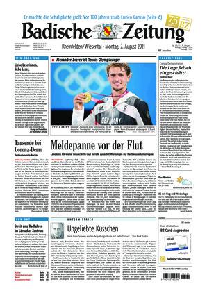 Badische Zeitung - Rheinfelden/Wiesental (02.08.2021)