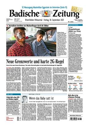 Badische Zeitung - Rheinfelden/Wiesental (10.09.2021)