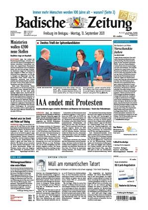 Badische Zeitung - Freiburg im Breisgau (13.09.2021)