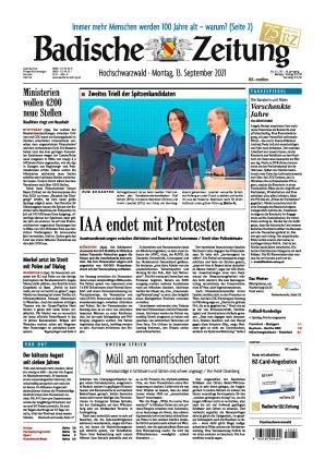 Badische Zeitung - Hochschwarzwald (13.09.2021)