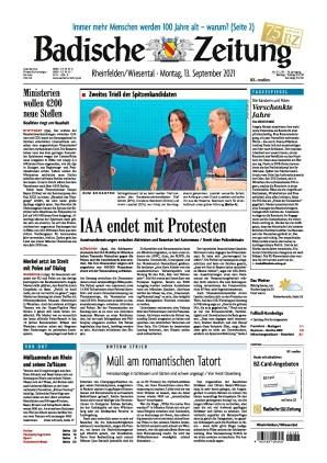 Badische Zeitung - Rheinfelden/Wiesental (13.09.2021)