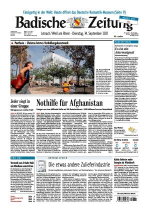 Badische Zeitung - Lörrach/Weil am Rhein (14.09.2021)