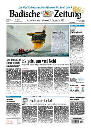 Badische Zeitung - Hochschwarzwald (15.09.2021)