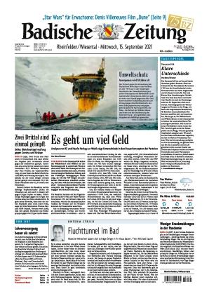 Badische Zeitung - Rheinfelden/Wiesental (15.09.2021)