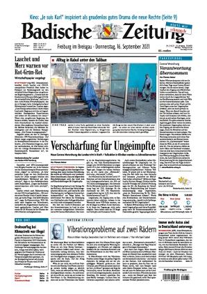 Badische Zeitung - Freiburg im Breisgau (16.09.2021)