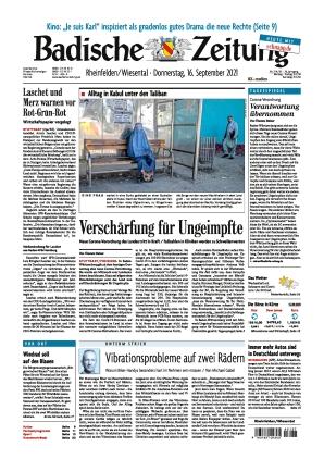 Badische Zeitung - Rheinfelden/Wiesental (16.09.2021)