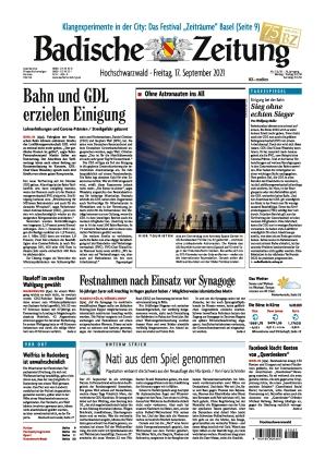 Badische Zeitung - Hochschwarzwald (17.09.2021)