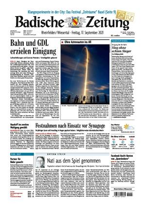 Badische Zeitung - Rheinfelden/Wiesental (17.09.2021)