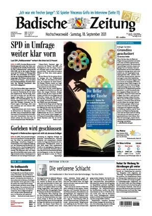 Badische Zeitung - Hochschwarzwald (18.09.2021)