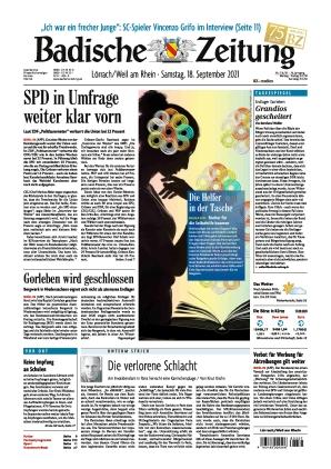 Badische Zeitung - Lörrach/Weil am Rhein (18.09.2021)