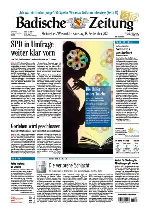 Badische Zeitung - Rheinfelden/Wiesental (18.09.2021)