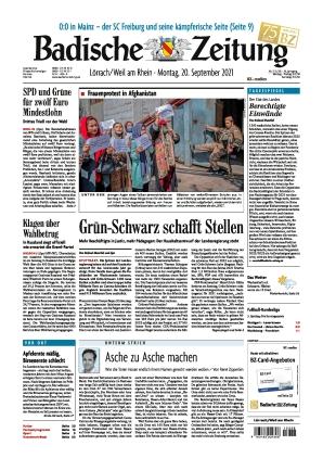 Badische Zeitung - Lörrach/Weil am Rhein (20.09.2021)