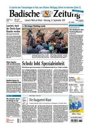 Badische Zeitung - Lörrach/Weil am Rhein (21.09.2021)