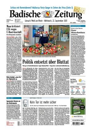 Badische Zeitung - Lörrach/Weil am Rhein (22.09.2021)