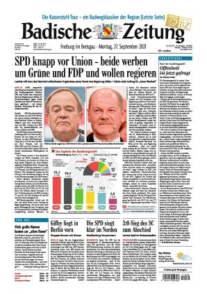 Badische Zeitung - Freiburg im Breisgau (27.09.2021)