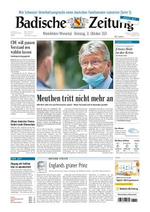 Badische Zeitung - Rheinfelden/Wiesental (12.10.2021)