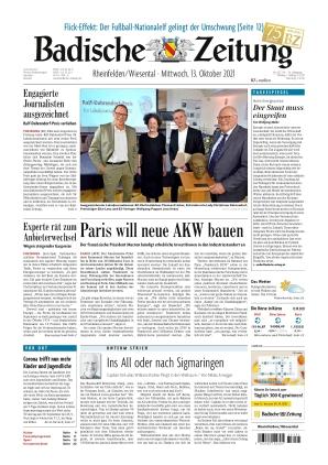 Badische Zeitung - Rheinfelden/Wiesental (13.10.2021)