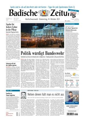Badische Zeitung - Hochschwarzwald (14.10.2021)