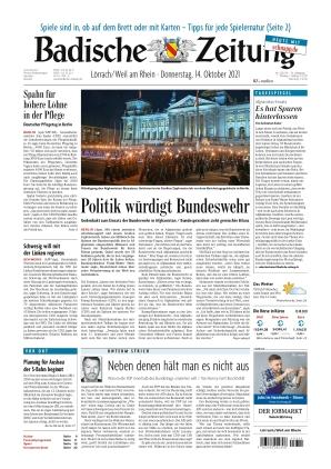 Badische Zeitung - Lörrach/Weil am Rhein (14.10.2021)