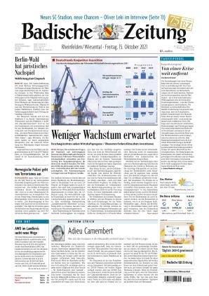 Badische Zeitung - Rheinfelden/Wiesental (15.10.2021)
