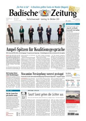 Badische Zeitung - Hochschwarzwald (16.10.2021)
