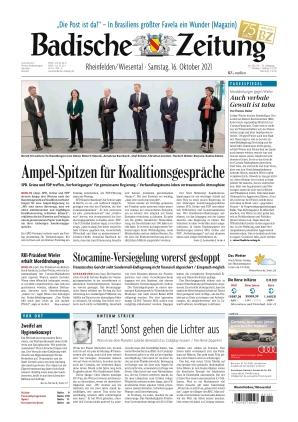 Badische Zeitung - Rheinfelden/Wiesental (16.10.2021)