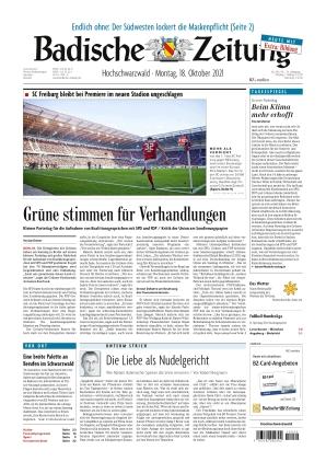 Badische Zeitung - Hochschwarzwald (18.10.2021)