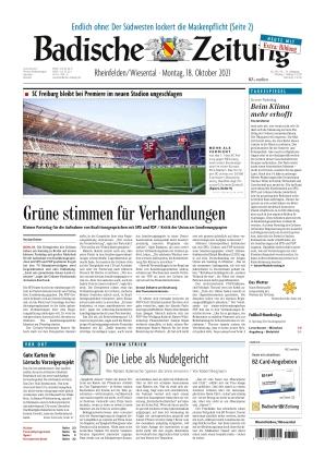 Badische Zeitung - Rheinfelden/Wiesental (18.10.2021)