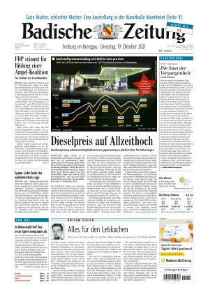 Badische Zeitung - Freiburg im Breisgau (19.10.2021)