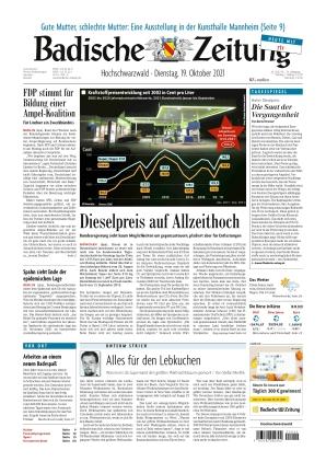 Badische Zeitung - Hochschwarzwald (19.10.2021)