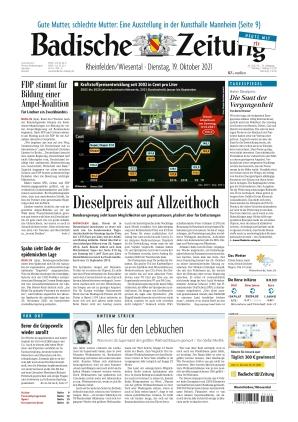 Badische Zeitung - Rheinfelden/Wiesental (19.10.2021)