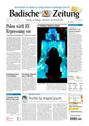 Badische Zeitung - Freiburg im Breisgau (20.10.2021)