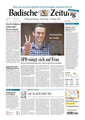 Badische Zeitung - Freiburg im Breisgau (21.10.2021)