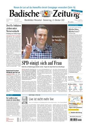 Badische Zeitung - Rheinfelden/Wiesental (21.10.2021)