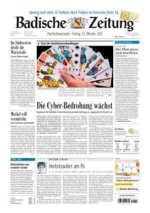 Badische Zeitung - Hochschwarzwald (22.10.2021)