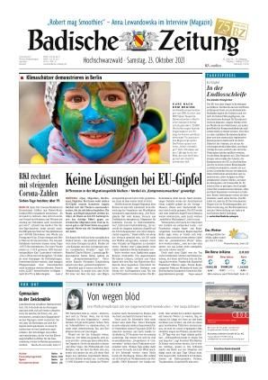 Badische Zeitung - Hochschwarzwald (23.10.2021)