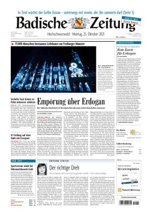 Badische Zeitung - Hochschwarzwald (25.10.2021)