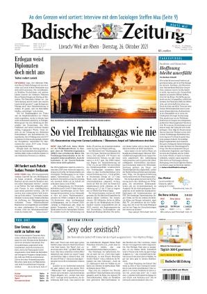 Badische Zeitung - Lörrach/Weil am Rhein (26.10.2021)