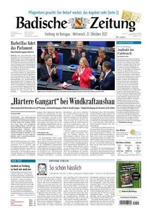 Badische Zeitung - Freiburg im Breisgau (27.10.2021)