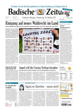 Badische Zeitung - Freiburg im Breisgau (28.10.2021)