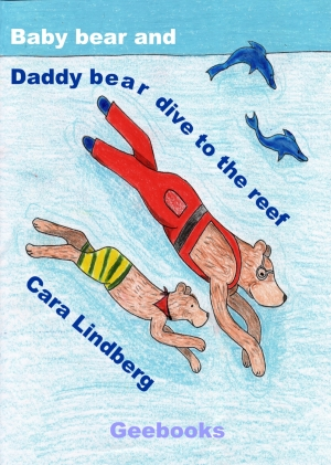 Baby bear and daddy bear dive to the reef