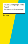 "Vergrößerte Darstellung Cover: Johann Wolfgang Goethe, ""Faust I"". Externe Website (neues Fenster)"