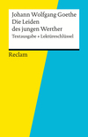 "Johann Wolfgang Goethe, ""Die Leiden des jungen Werther"""