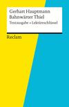 "Gerhart Hauptmann, ""Bahnwärter Thiel"""