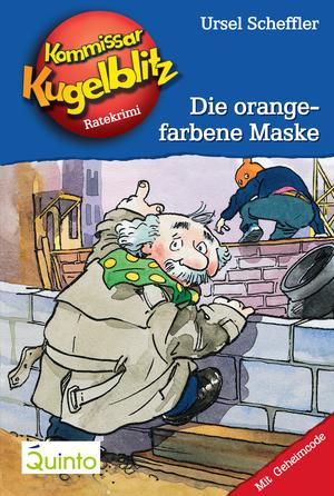 Die orangefarbene Maske